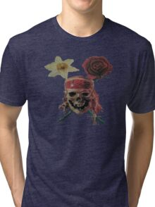 Skull And Cross Blooms Tri-blend T-Shirt