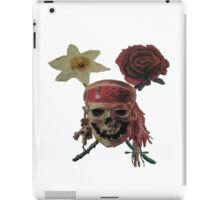 Skull And Cross Blooms iPad Case/Skin