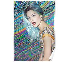 halsey,, blue hair Poster