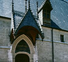 Front door of Hotel de Dieu Beaune France 198404290018 by Fred Mitchell