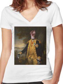 Mordin. Women's Fitted V-Neck T-Shirt