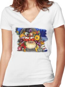 The Harvest Women's Fitted V-Neck T-Shirt