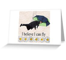 Benedict Cumberbatch is flying through the air! Greeting Card