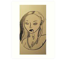 Vomitgirl Art Print