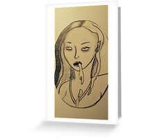 Vomitgirl Greeting Card