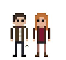 8-Bit Heros - 11th Doctor and Amy by 8BitDesign