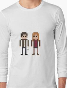 8-Bit Heros - 11th Doctor and Amy Long Sleeve T-Shirt