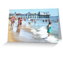 Old Orchard Beach - Postcard Greeting Card