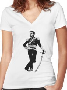 Flashman Tee Women's Fitted V-Neck T-Shirt