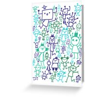 Robot Party Greeting Card