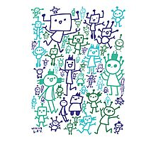 Robot Party Photographic Print