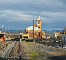 Albury Station from the cab by Yvonne Kirk