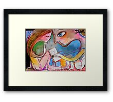 the red rug Framed Print