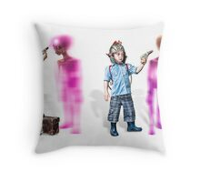 RayGun Rex ~ Wall to Wall Aliens Throw Pillow