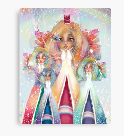 Rainbow Fairies Canvas Print