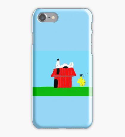 Snoopy and Woodstock Peanuts Characters  iPhone Case/Skin