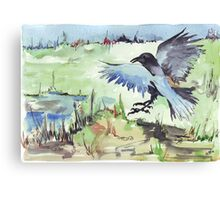 The Stately Raven Canvas Print