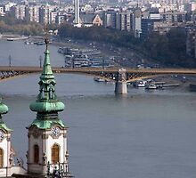 Twin Spires On The Danube by phil decocco