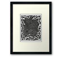Hot Graphite Framed Print