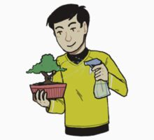 sulu with a bonsai by vulcan-ology