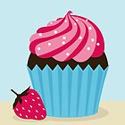 Strawberry Cupcake by shanmclean