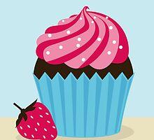 Strawberry Cupcake by shanmclean