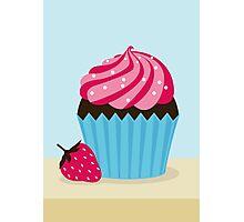 Strawberry Cupcake Photographic Print