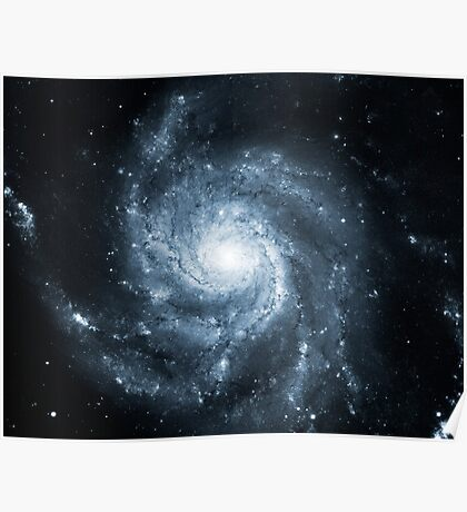 Whirlpool Galaxy [Dark Blue]   Fresh Universe Poster