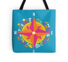 Travel Compass Tote Bag