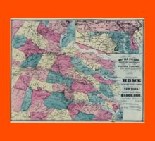 Civil War Maps 1730 The battle fields and military positions in eastern Virginia from surveys supplied by officers of the army Kids Tee