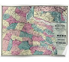 Civil War Maps 1730 The battle fields and military positions in eastern Virginia from surveys supplied by officers of the army Poster