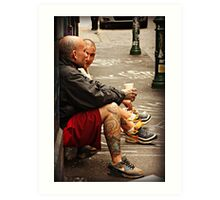 Hanging out in Hosier Lane Art Print