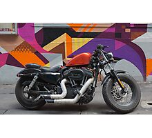 Harley on Hosier Lane Photographic Print