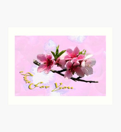 Peach Blossom Just for You Art Print