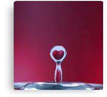 love in a drop Canvas Print