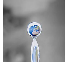 world in a drop Photographic Print