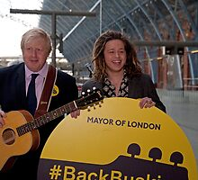 Back Busking Boris Johnson and Luke Friend by Keith Larby