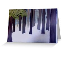 Fog and Mist in the Forest Greeting Card