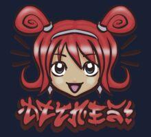 Kawaii Face -Red Kids Clothes