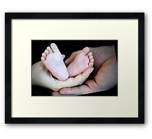 Hands to hold you Framed Print