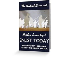 Your country needs you! Greeting Card