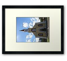 Cartoon Church Framed Print