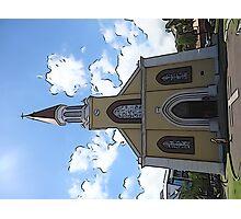Cartoon Church Photographic Print