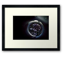Droplets. Framed Print