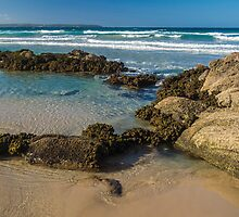 The Beach at Pambula South. by Bette Devine
