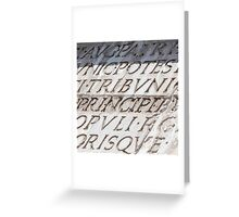 Graphic carved serif type Greeting Card