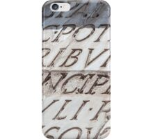Graphic carved serif type iPhone Case/Skin