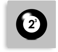Eight Ball Canvas Print