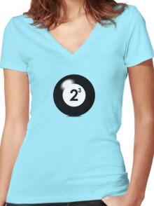 Eight Ball Women's Fitted V-Neck T-Shirt