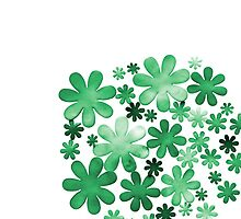 Paper watercolour green flowers by dovelupo